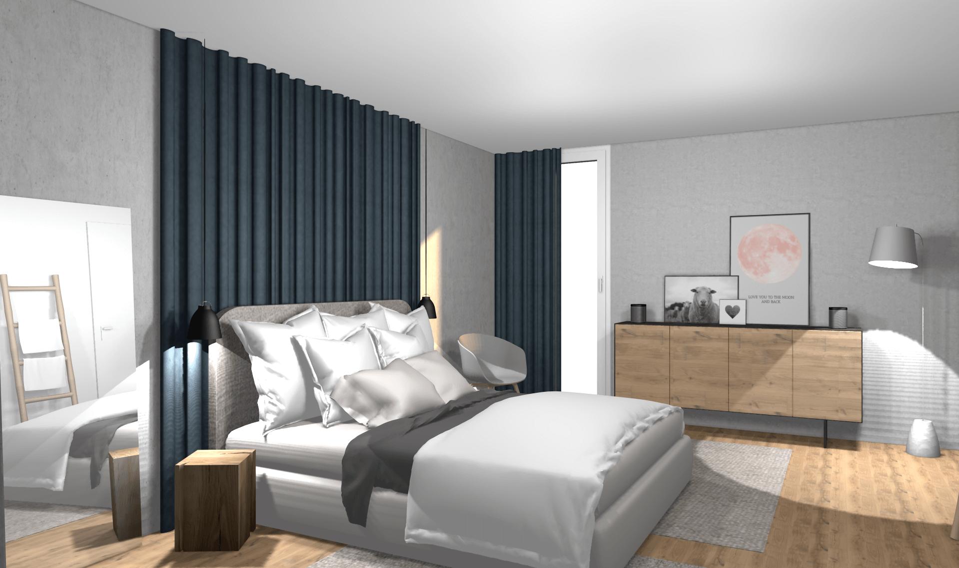 stylisches schlafzimmer konzept mit kleinem budget von wohnly. Black Bedroom Furniture Sets. Home Design Ideas