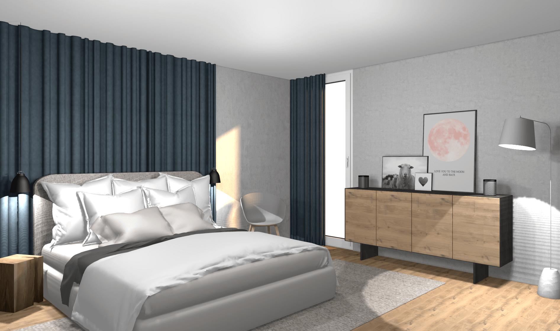 Stylisches Schlafzimmer mit kleinem Budget