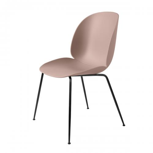 Gubi-Beetle-Dining-Chair-Conic-Base-schwarz-sweet-pink-Freisteller-nude-einrichten