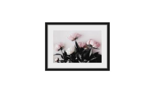 gerahmter-Digitaldruck-pastel-Roses Wohnzimmer gemütlich einrichten